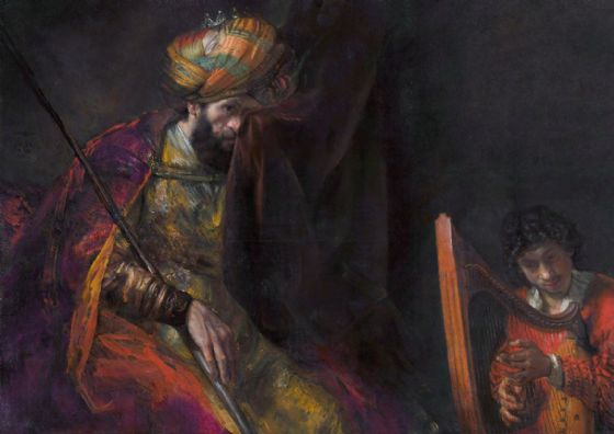 Rembrandt: Saul and David. Fine Art Print/Poster. Sizes: A4/A3/A2/A1 (004301)